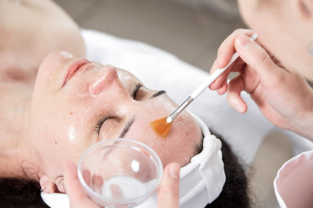 We can help you with - skin peel